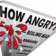 How Angry Thermometer Measure Anger Level Man Frustrated - Zdjęcie stockowe