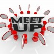 Meet-Up Talking Meeting Speech Bubbles — Stock Photo