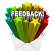 Feedback Review Rating Stars Envelope Letter  — Stock Photo