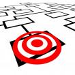 Targeted Position Organization Org Chart Bulls-Eye - Stock Photo