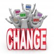 Change Team of to Innovate Evolve Improve Adapt — Foto Stock
