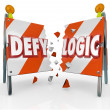 Defy Logic Roadblock Be Different Innovative New Ideas - Stock Photo