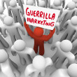 Stock Photo: GuerrillMarketing MHolding Sign Advertising Tactics