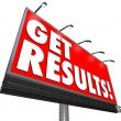 Stock Photo: Get Results Billboard Advertisement Promise Effective Plan