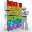 Marketing Plan Thinking Strategy Advertising Communications - Stock Photo