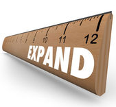 Expand Word Ruler Grow Expansion to New Level — Stock Photo
