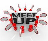 Meet-Up Talking Meeting Speech Bubbles — Stock Photo