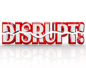 Disrupt 3D Word Change Paradigm Shift Revolution — Stock Photo
