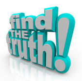Find the Truth 3D Words Seek Honest Answers — Stock Photo