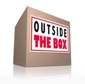 Outside the Box Innovative Unconventional Creative Thinking — Stock Photo