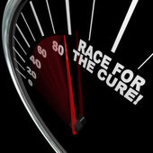 Race for the Cure Speedometer Fundraiser Words — Stock Photo