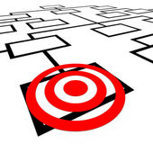 Targeted Position Organization Org Chart Bulls-Eye — Stock Photo