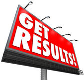 Get Results Billboard Advertisement Promise Effective Plan — Stock Photo