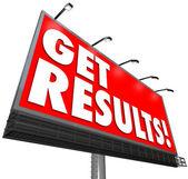 Get Results Billboard Advertisement Promise Effective Plan — Stock Photo