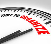 Time to Organize Clock Now is Moment to Coordinate Order — Foto de Stock