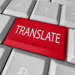 Translate Word Computer Keyboard Key Button — Foto Stock