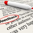 Feedback Circled Word Definition Dictionary — Stock Photo #13559184