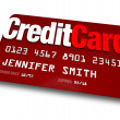 Credit Card Plastic Charge Shopping Debt — Foto Stock