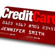 Credit Card Plastic Charge Shopping Debt — Stock Photo