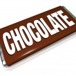 Chocolate Candy Bar Brown Wrapper Junk Food - Stock Photo