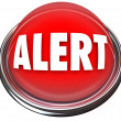 Alert Round Red Button Flashing Light Attention - Stockfoto