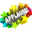 Applause Word Appreciation Ovation Approval Stars — Foto Stock