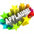 Applause Word Appreciation Ovation Approval Stars — Stockfoto