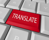 Translate Word Computer Keyboard Key Button — Stock Photo
