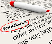Feedback Circled Word Definition Dictionary — Stok fotoğraf