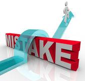 Misstag ordet person att övervinna fel till framgång — Stockfoto