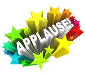 Applause Word Appreciation Ovation Approval Stars — Stock Photo