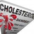 Cholesterol Dangerous Level Measuring Risk Heart Disease Stroke — Stock Photo #14740871
