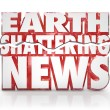 Earth Shattering News Urgent Information Update Breaking Story - Stockfoto