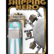 Shipping Hero Action Figure Shipper Delivery Man - 图库照片