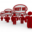 Meet Me New to Get to Know Networking Interview — Stok fotoğraf