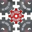 You Keep Us Moving Gears Turning Essential Team Player — 图库照片