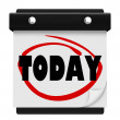 Today Word Wall Calendar Reminder Schedule Now — Stock Photo