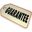 Guarantee Word Price Tag Warranty Buy Product — Stock Photo