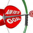 Stock Photo: Aim for Goal Bow and Arrow Bullseye Target