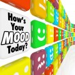 Stock Photo: How is Your Mood Emotions Feelings Indicator