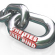 The Ties That Bind Chain Links Connected Partners — Stock Photo