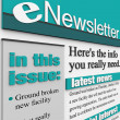 ENewsletter Alert Issue Email Delivering News Updates - Zdjęcie stockowe
