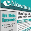 ENewsletter Alert Issue Email Delivering News Updates - Stock Photo