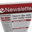 Stock Photo: ENewsletter Issue Email Information Articles Update