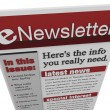 ENewsletter Issue Email Information Articles Update - Stock Photo