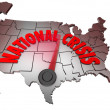 National Crisis USMap United States AmericTrouble — Stock Photo #14741553