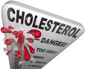 Colesterol peligroso movimiento riesgo enfermedad cardíaca de medición — Foto de Stock