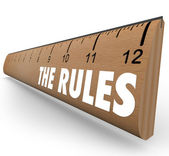 The Rules Ruler Guidelines Regulations Laws Limits — 图库照片