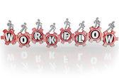 Workflow on Gears Teamwork Workforce Working Together — Stock Photo