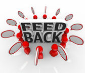 Feedback Talking Input Survey Focus Group — Stock Photo